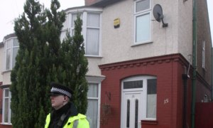 A terraced house in Luton was searched by police