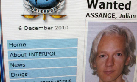 Wikileaks founder wanted by Interpol