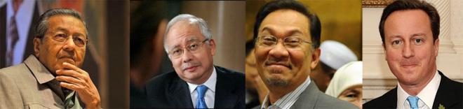 Umum, Najib, Anwar, Cameron
